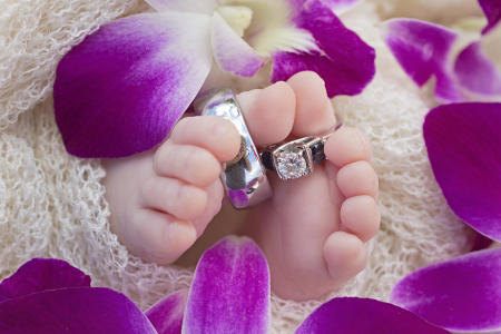 55 Oahu Hawaii newborn photography beach
