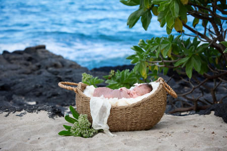 1 Oahu Hawaii newborn photography beach
